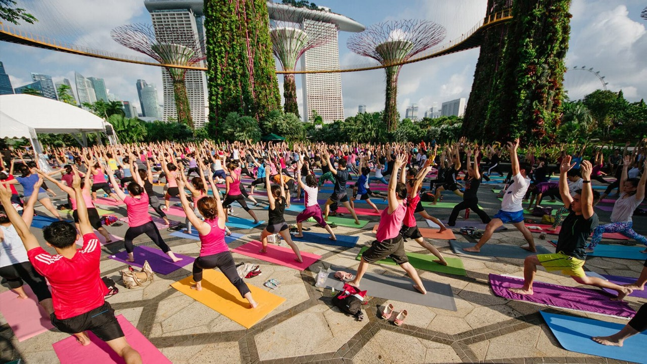 yoga gardens by the bay