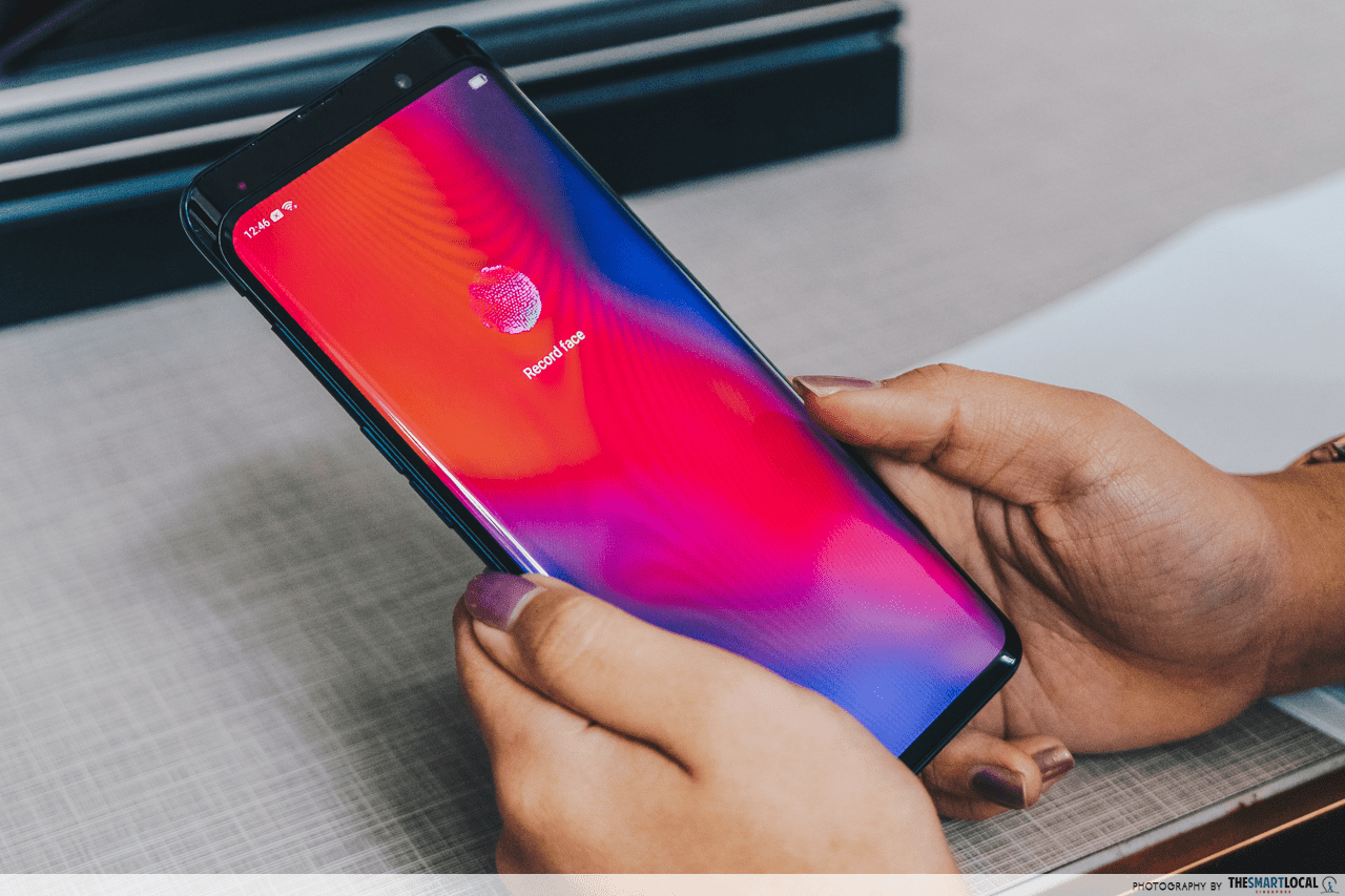 oppo find x face recognition
