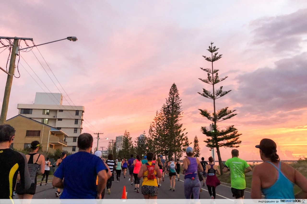 gold coast marathon scenery