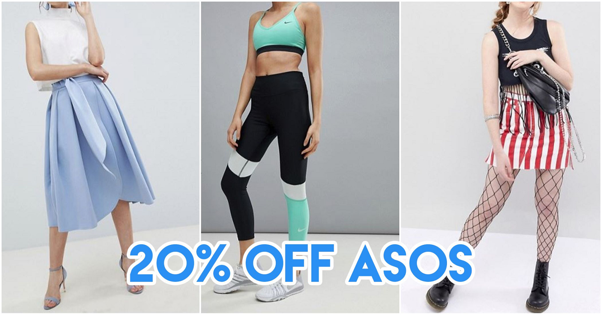 ASOS Is Giving You 20% Off Full-Priced Items When You Pay With Your DBS/POSB Mastercard® Card From 23 July-31 August