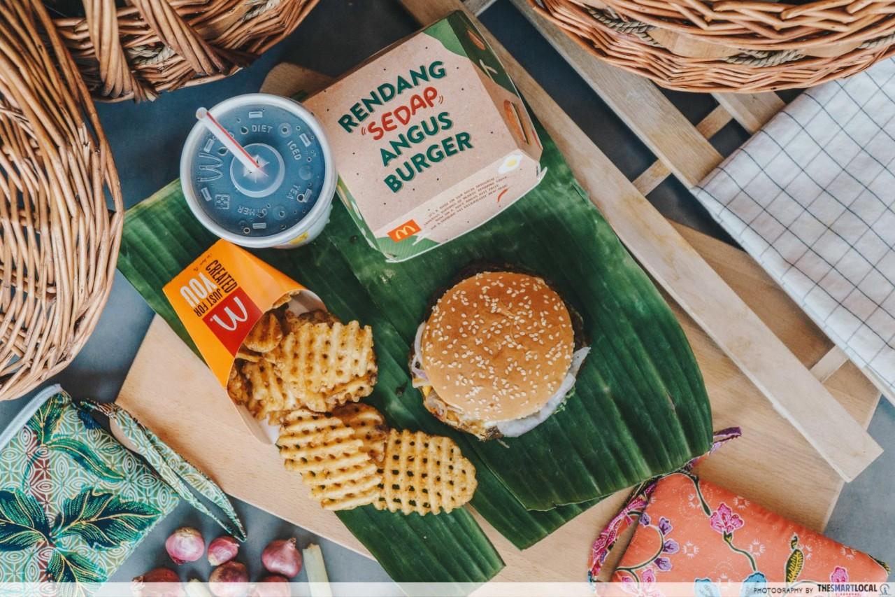mcdonalds rendang sedap angus burger