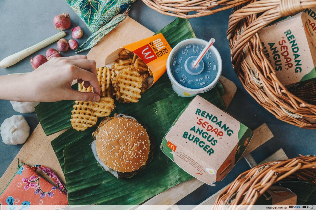 rendang burger set mcdonalds