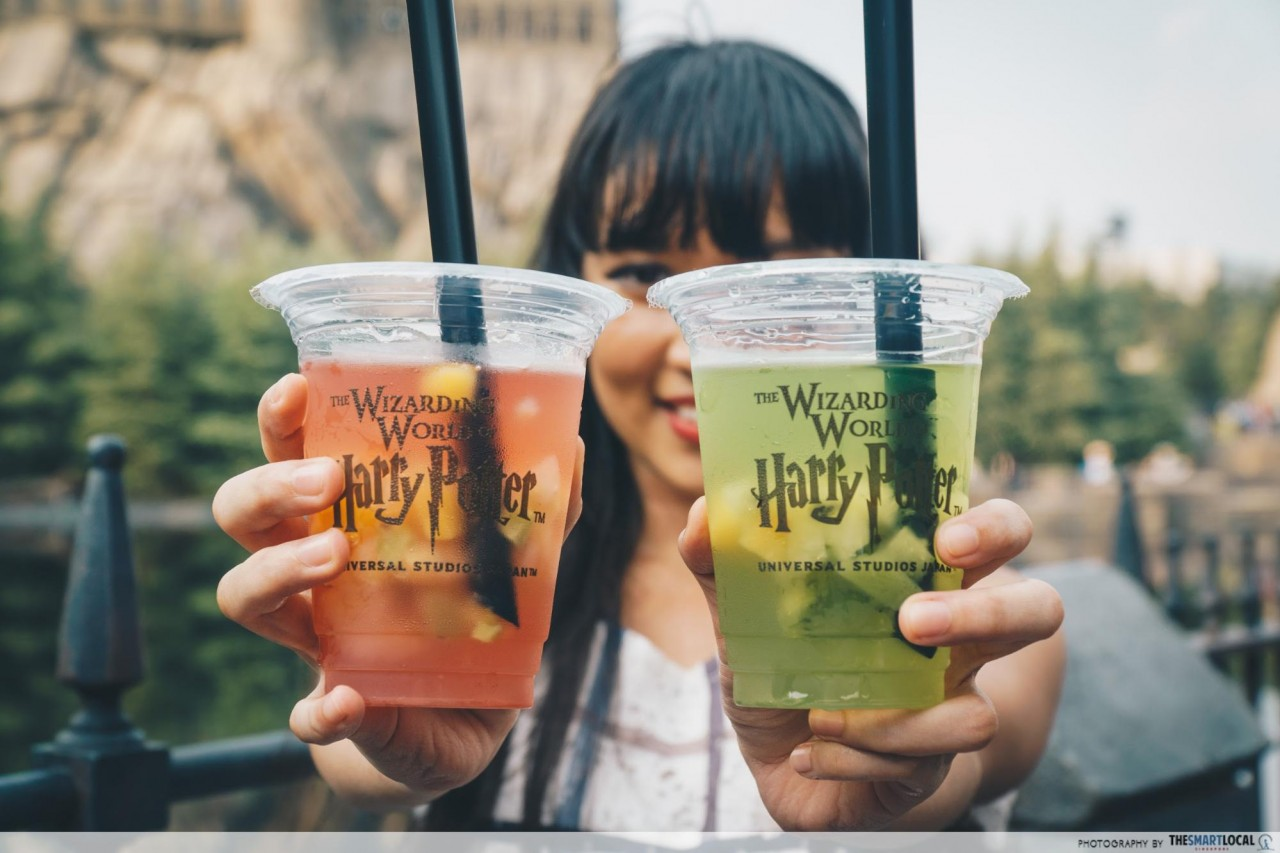 USJ -  potter melon strawberry fruit drink jelly