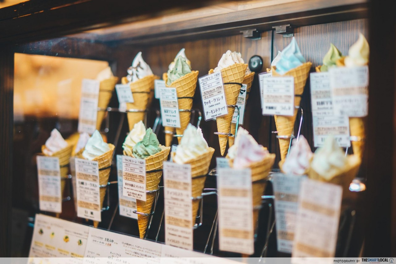 Kinosaki onsen town soft serve
