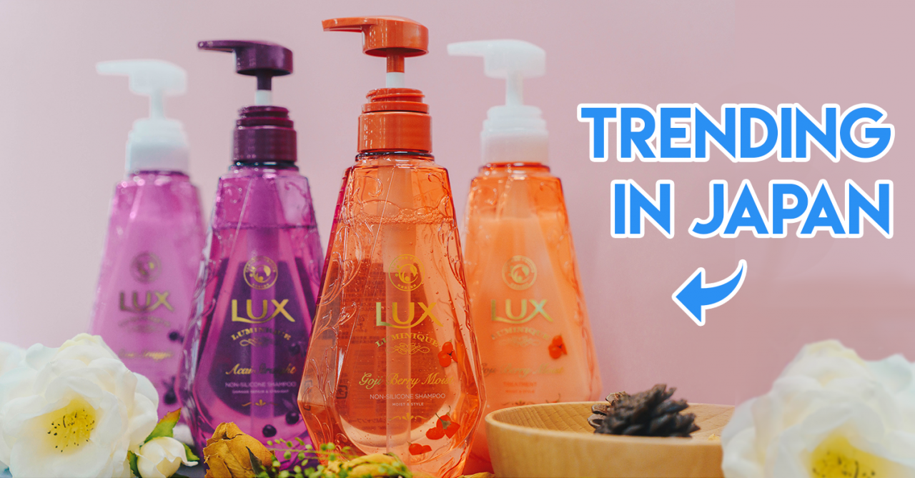 LUX Luminique's New Haircare Products From Japan Come With Superfood Ingredients Like Açaí & Goji Berry To Nourish Your Hair