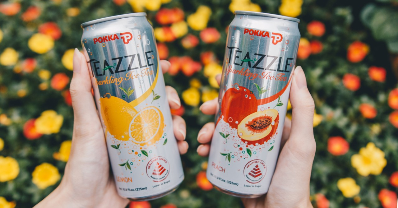 Pokka's Teazzle Is A Sparkling Tea Drink That's First In The Market