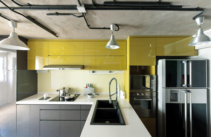 prozfile yellow hdb kitchen