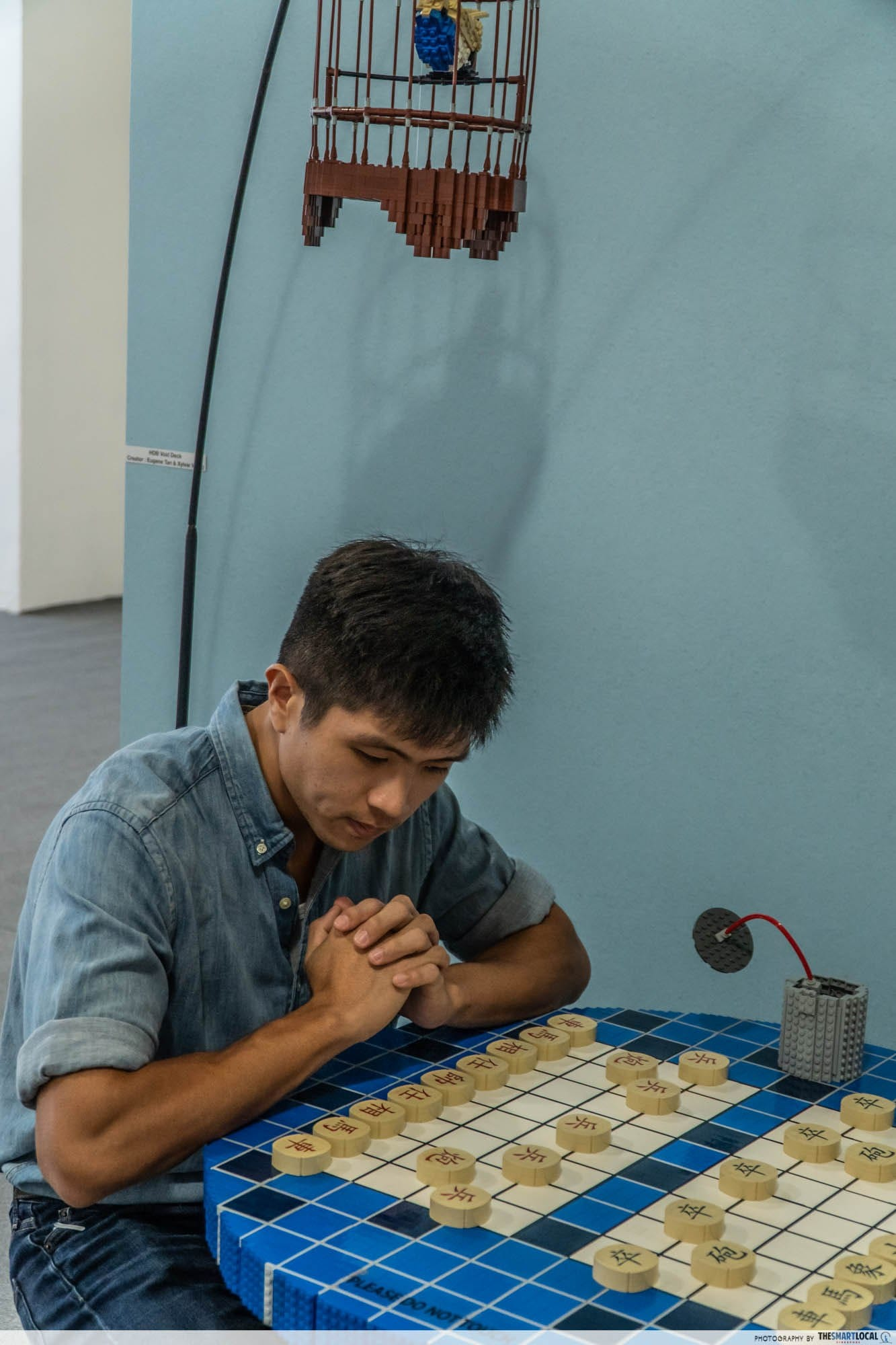 lego chinese chess pensive