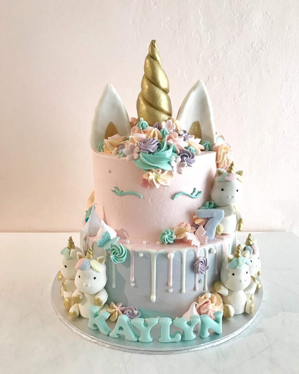 Charlotte Grace - unicorn customised cake