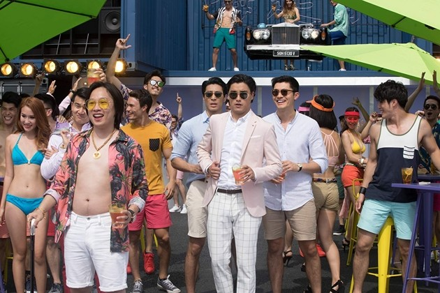 Crazy Rich Asians - container ship party