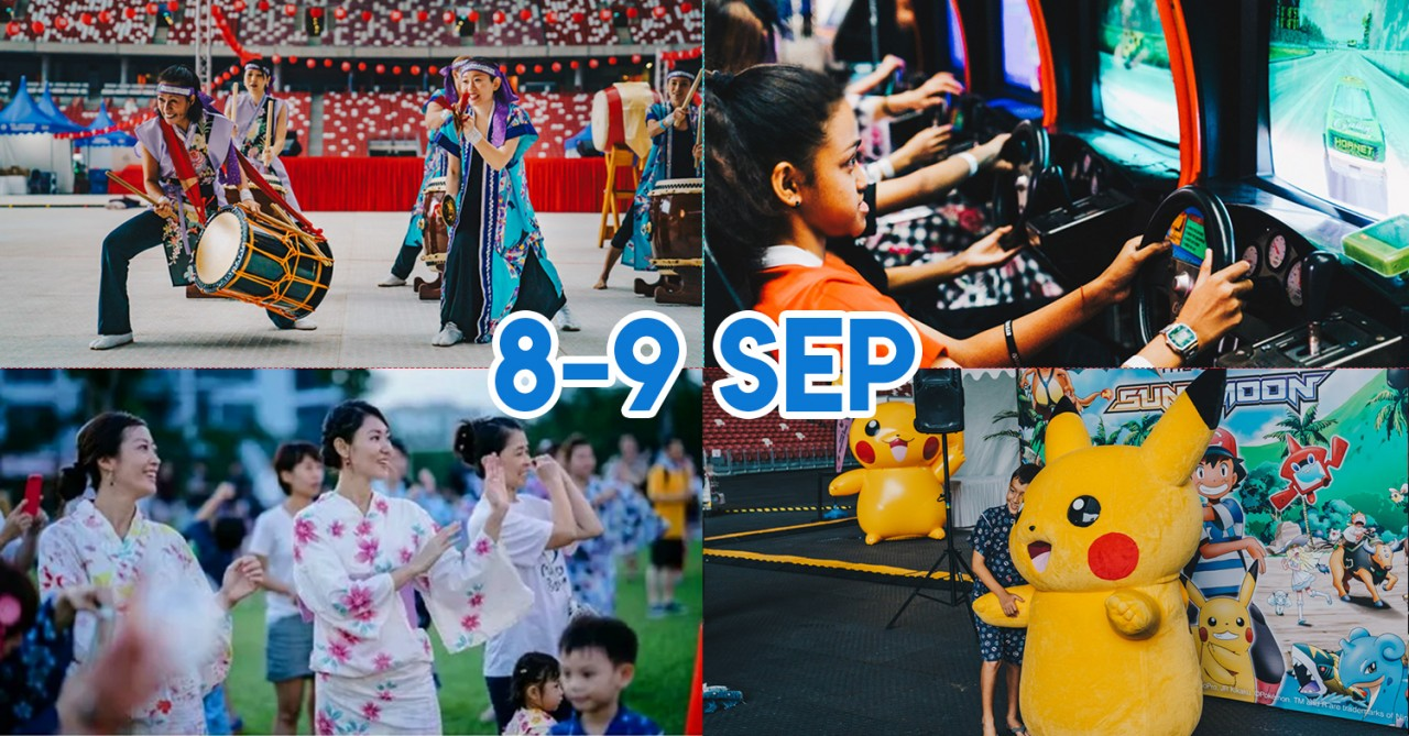 Singapore Sports Hub's Pop-Up Japanese Summer Festival Has 100+ F&B, Games And Performances