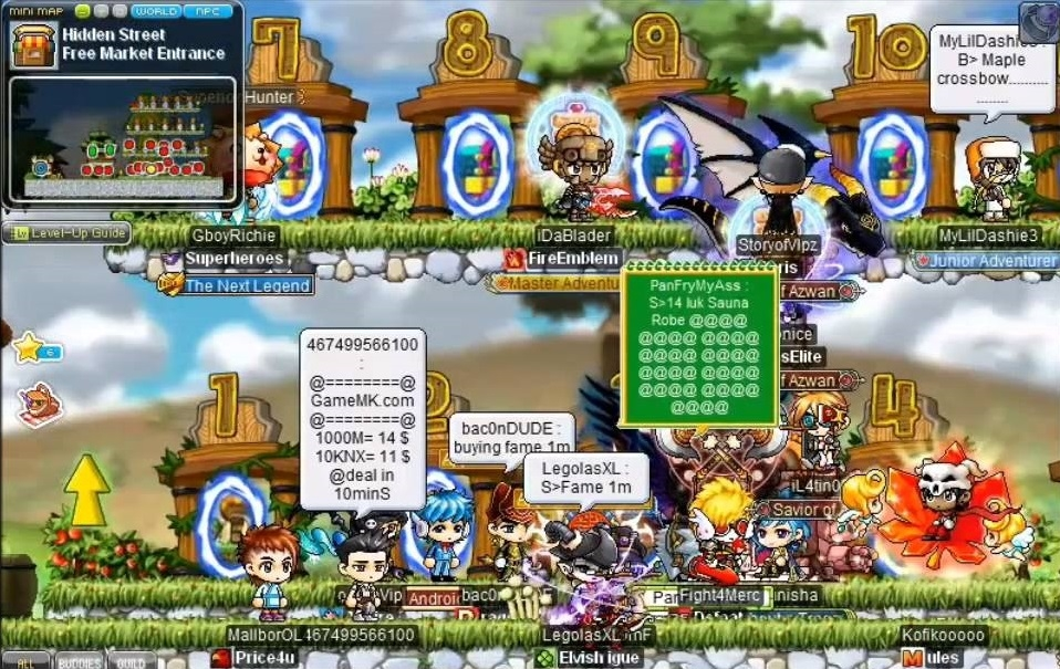 Maple Story - selling fame free market