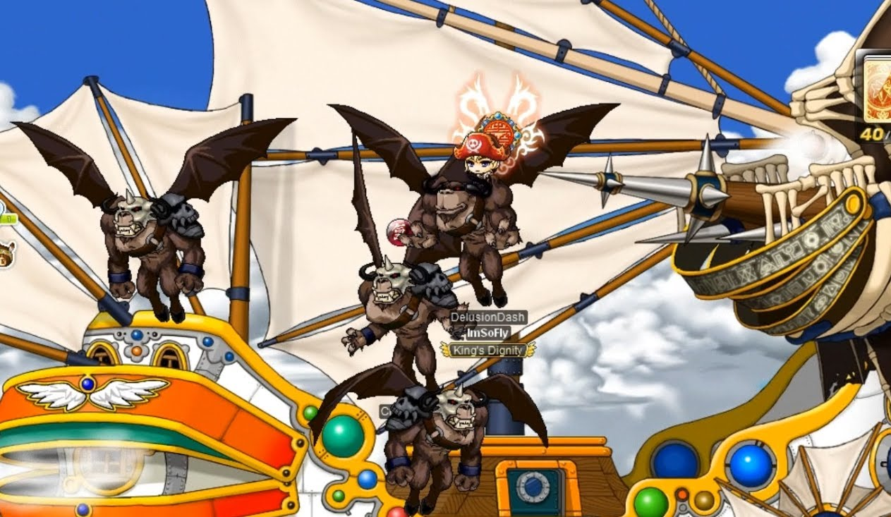 Maple Story - ship to orbis crimson balrog