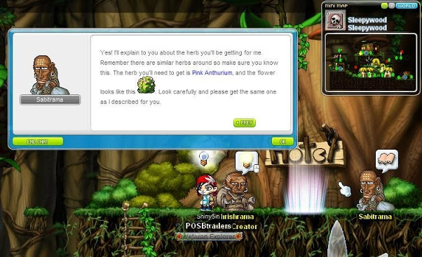 Maple Story - sleepywood jump quest sabitrama