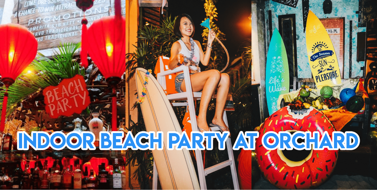 No.5 Emerald Hill Cocktail Bar Is Having An Indoor Beach Party With Real Sand & Drink Promos All Night
