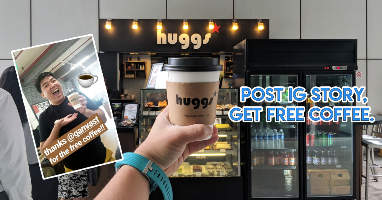 Qanvast Is Giving Free Huggs Coffee At Selected Outlets From 24 - 28 September