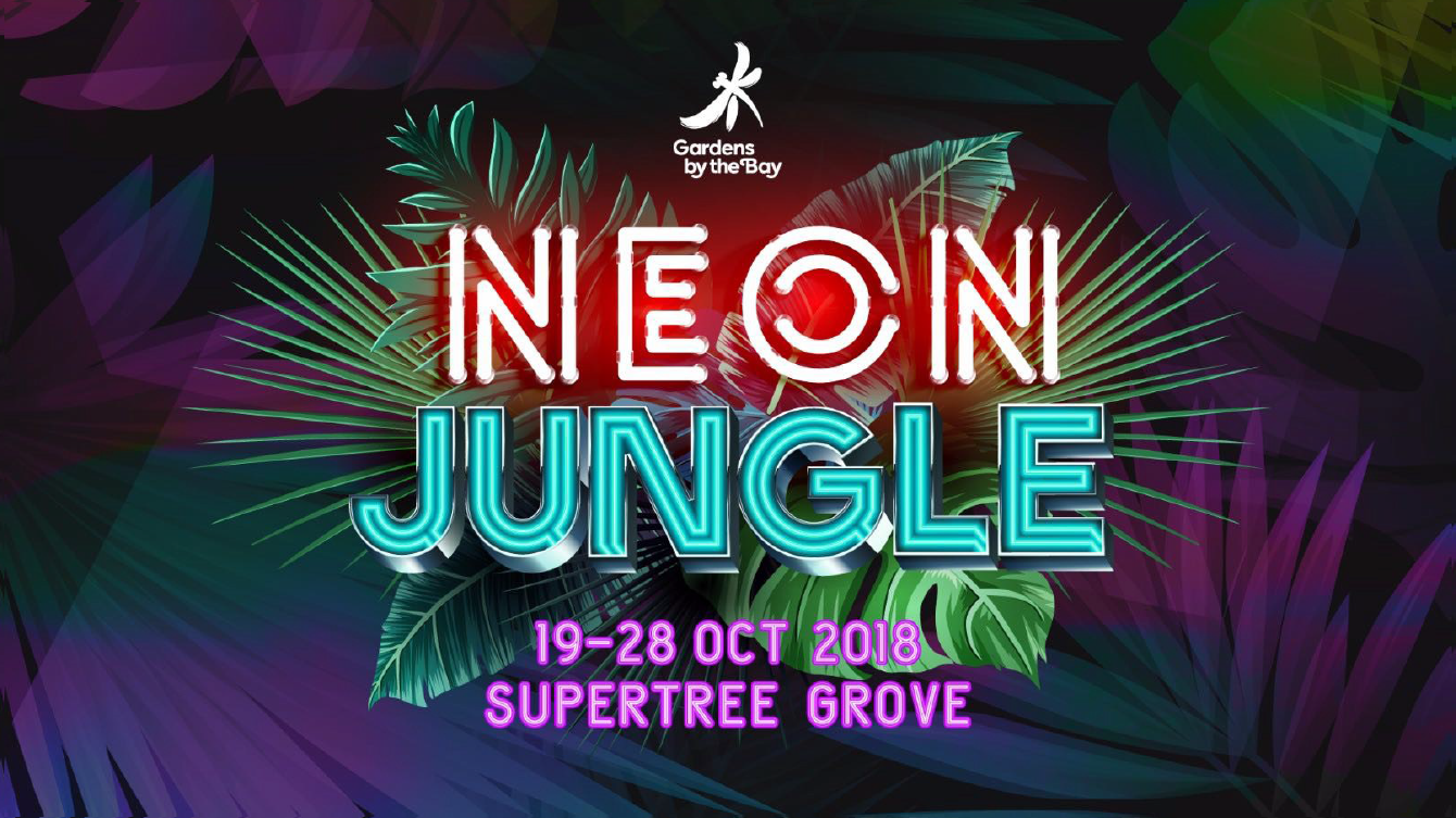 Neon Jungle Gardens by the Bay - supertree grove details