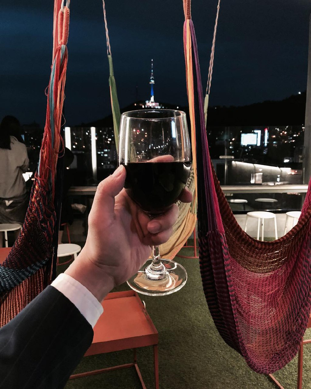 Seoul Restaurants view Korea - my sky hammock seats
