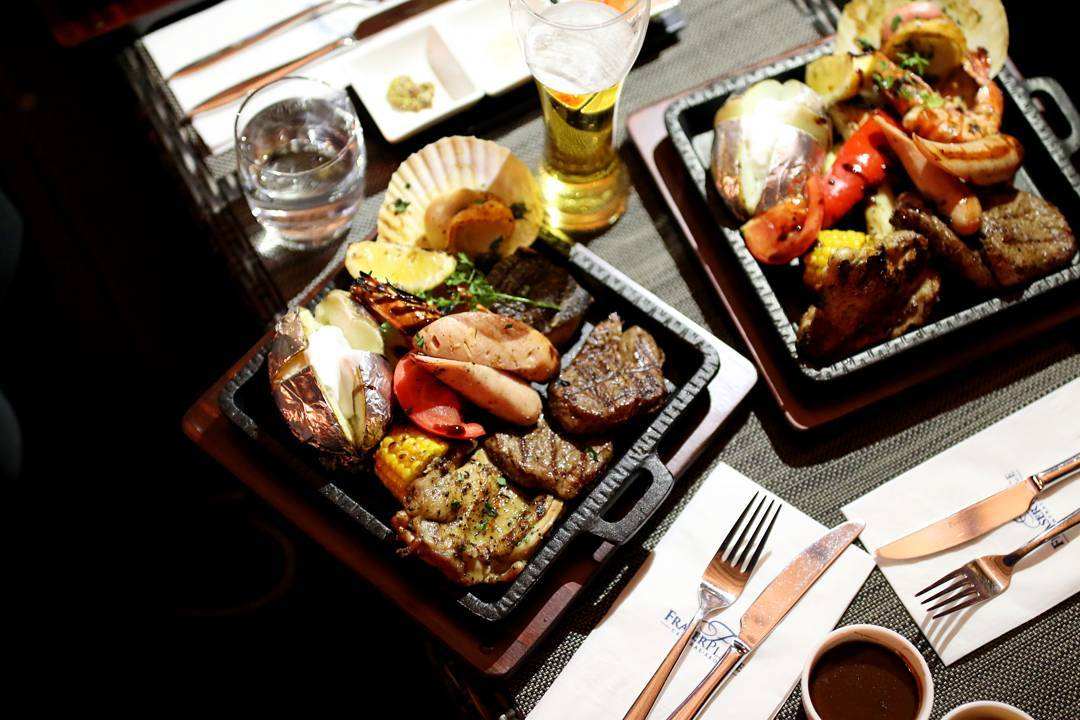 Seoul Restaurants view Korea - panorama surf turf bbq platters