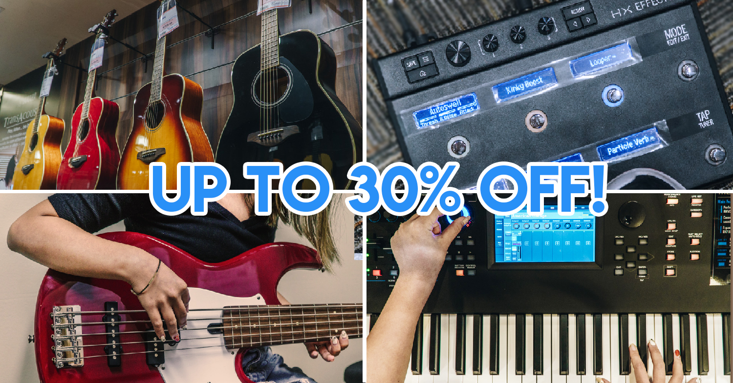 Yamaha Combo Fair - Sale At Plaza Singapura With Up To 30% Off For Pianos, Guitars, Drums & More