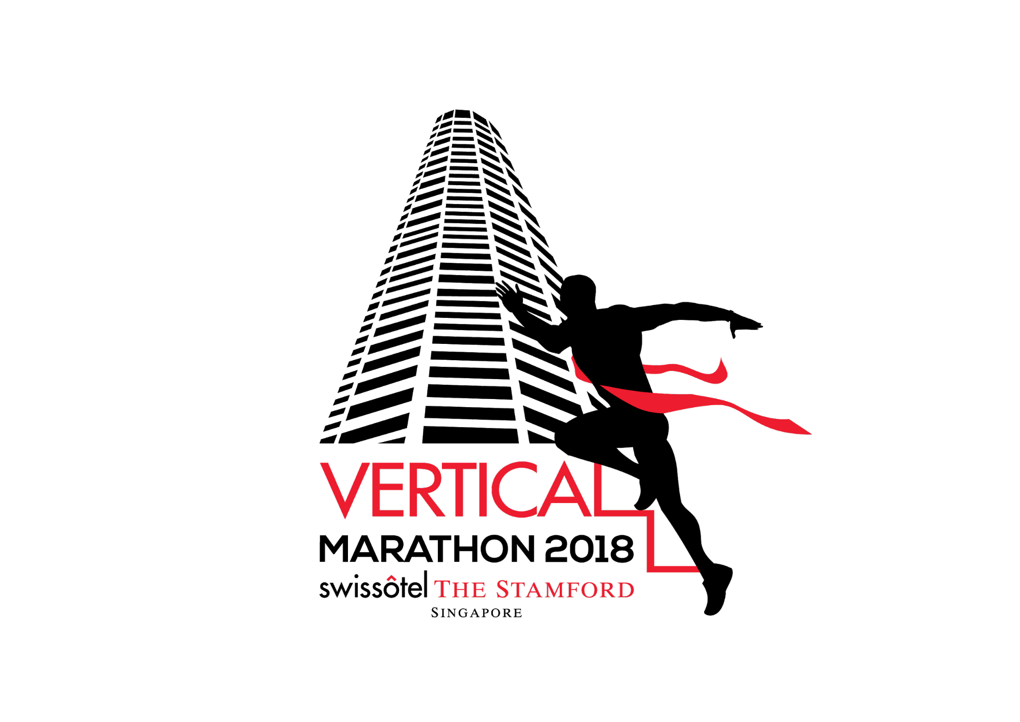 vertical marathon swissotel the stamford 2018 - finish line logo singapore