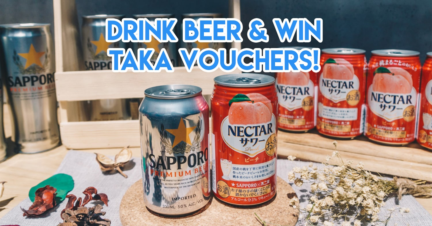 These Giveaways By Sapporo Premium Beer Are Your Cue To Be The Booze I/C At Year-End Potlucks