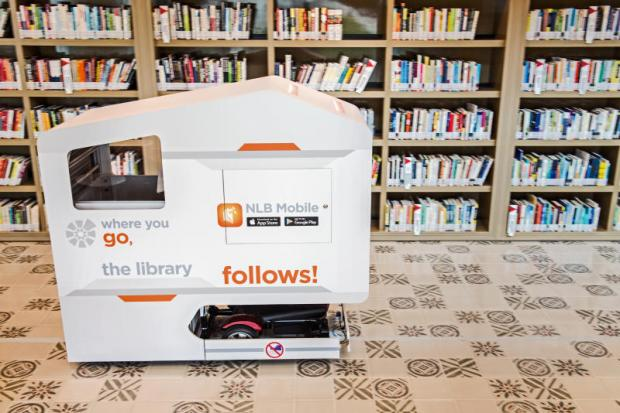 NLB national library board - mobile book drop
