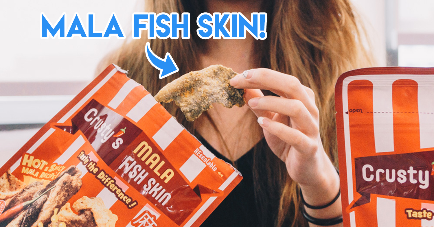 Crusty's Mala Hotpot and Truffle Flavoured Fish Skin Is Now Available At Fairprice & Cheers Outlets