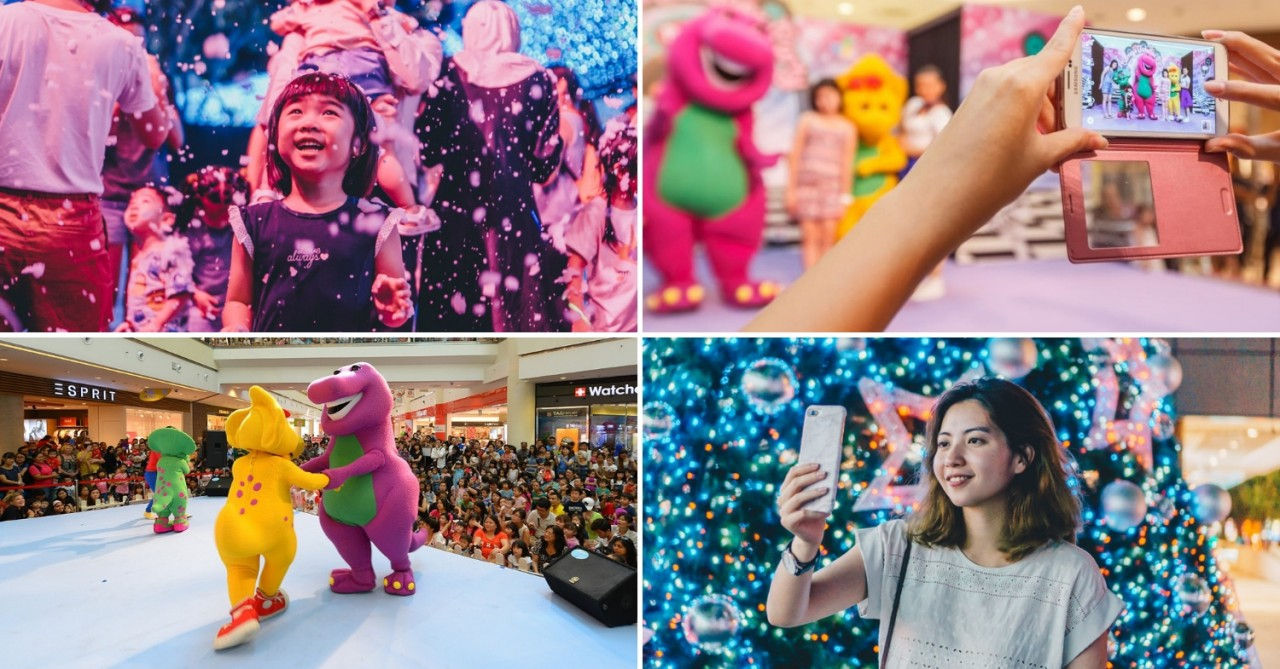 City Square Mall Has A Lineup Of Barney Activities And A Starlight Garden With Over 300,000 LED Lights This Christmas