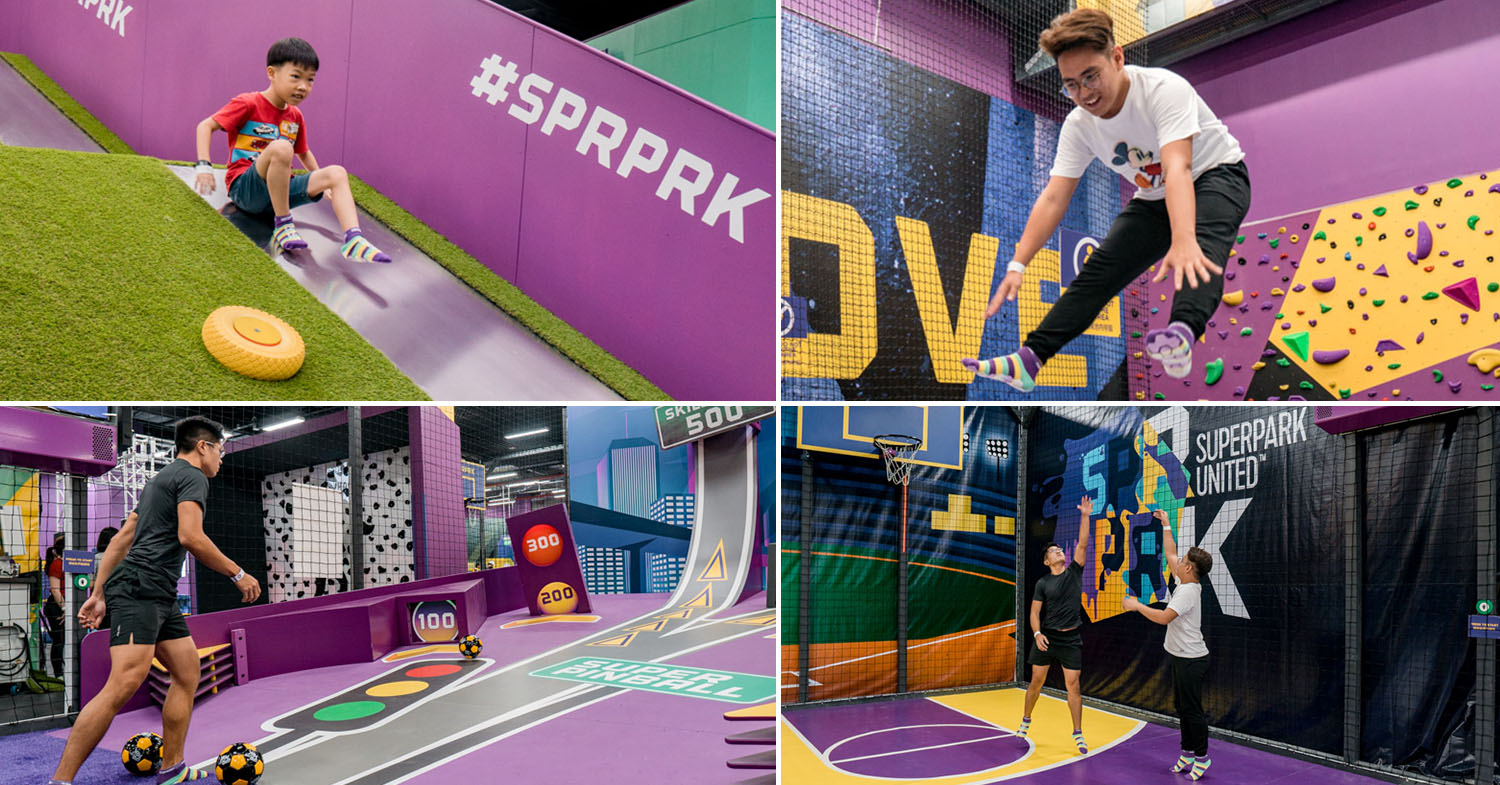 SuperPark Singapore Opens With Life-Sized Pinball, Trampolines, & Basketball For Group Activities