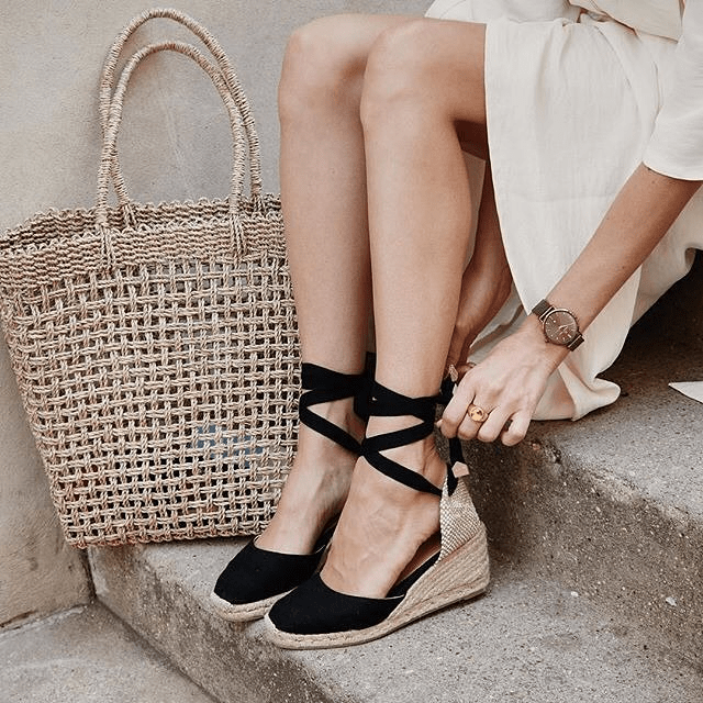castaner espadrille wedges black