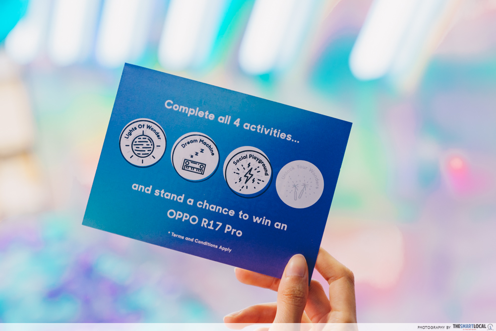 OPPO Pop up Experience - stamp collect prize zone