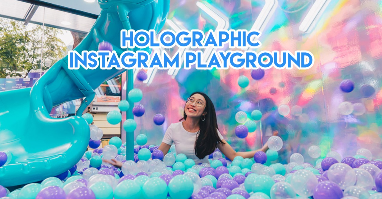 OPPO's Pop-Up Playground In Orchard Road Has LED Backdrops, Spiral Slides & Ball Pits In It
