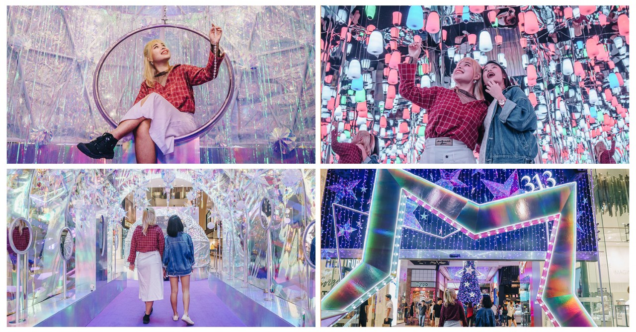 313@somerset Has Been Transformed Into An Iridescent Wonderland Of Lights And Mirrors For Photo Ops