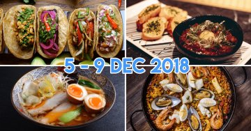 The Great Clarke Quay FEASTival Is Selling Lobster Ramen, Pork Knuckles & Churros On The Bridge