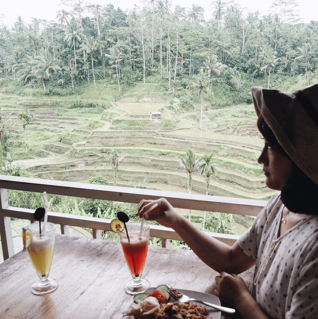tegalalang rice terrace cafe dining