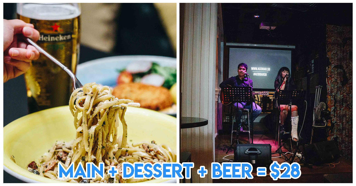 Acid Bar Re-Opens With Daily Live Music And $28++ Main & Beer Dinner Deals