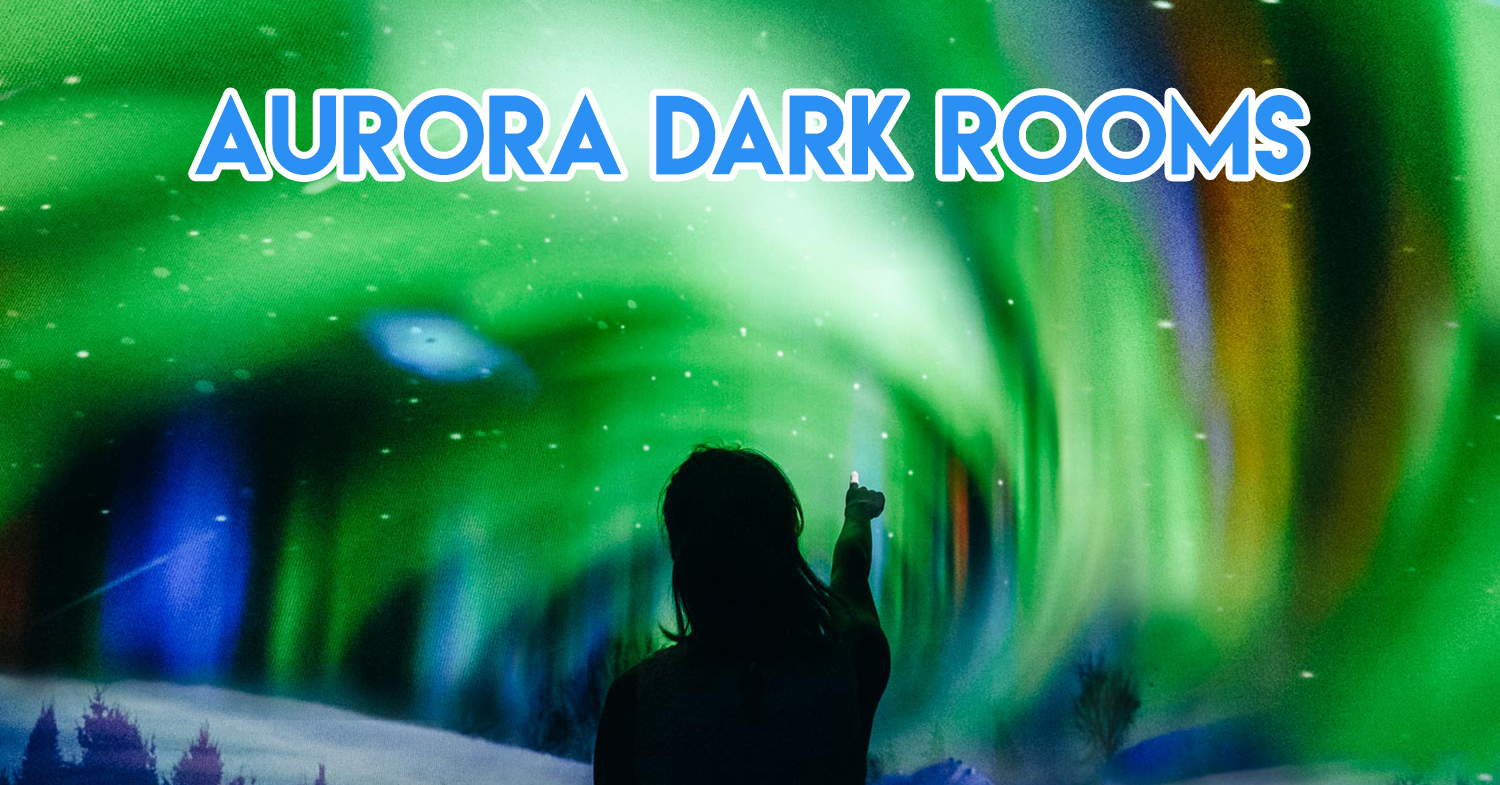West Coast Plaza Has A Dark Room With Northern Lights & FOC Postcard Deliveries This Christmas