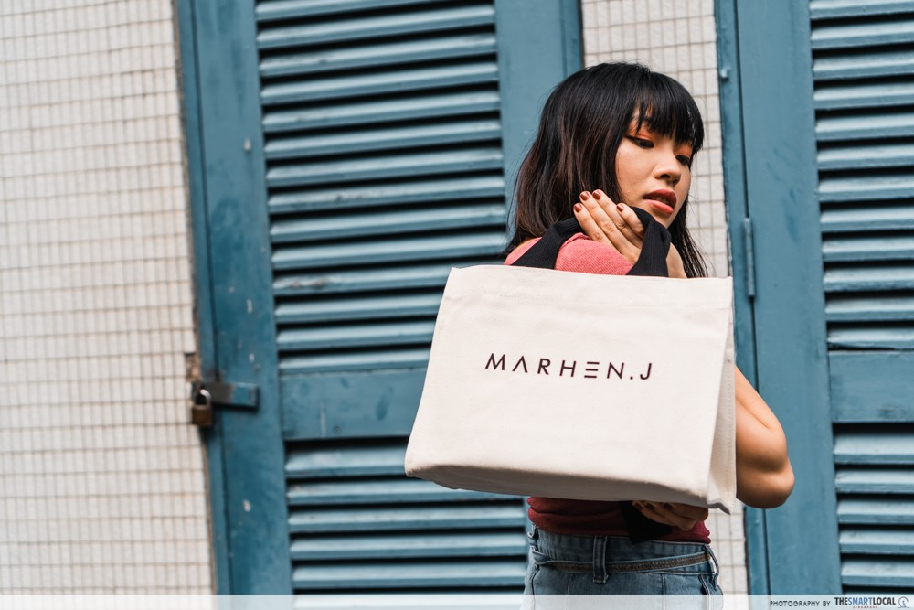 mahren j singapore tote bag
