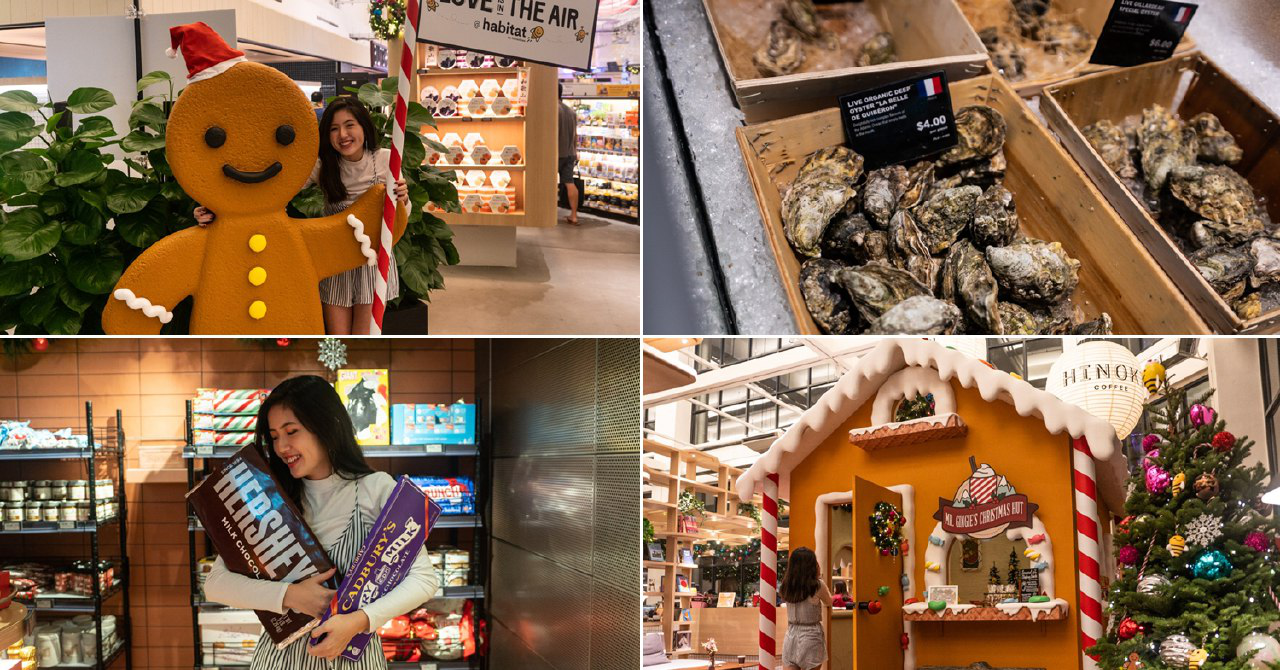 habitat by honestbee Has Live Seafood, Wine Classes & A 4-Metre Tall Gingerbread House This Christmas