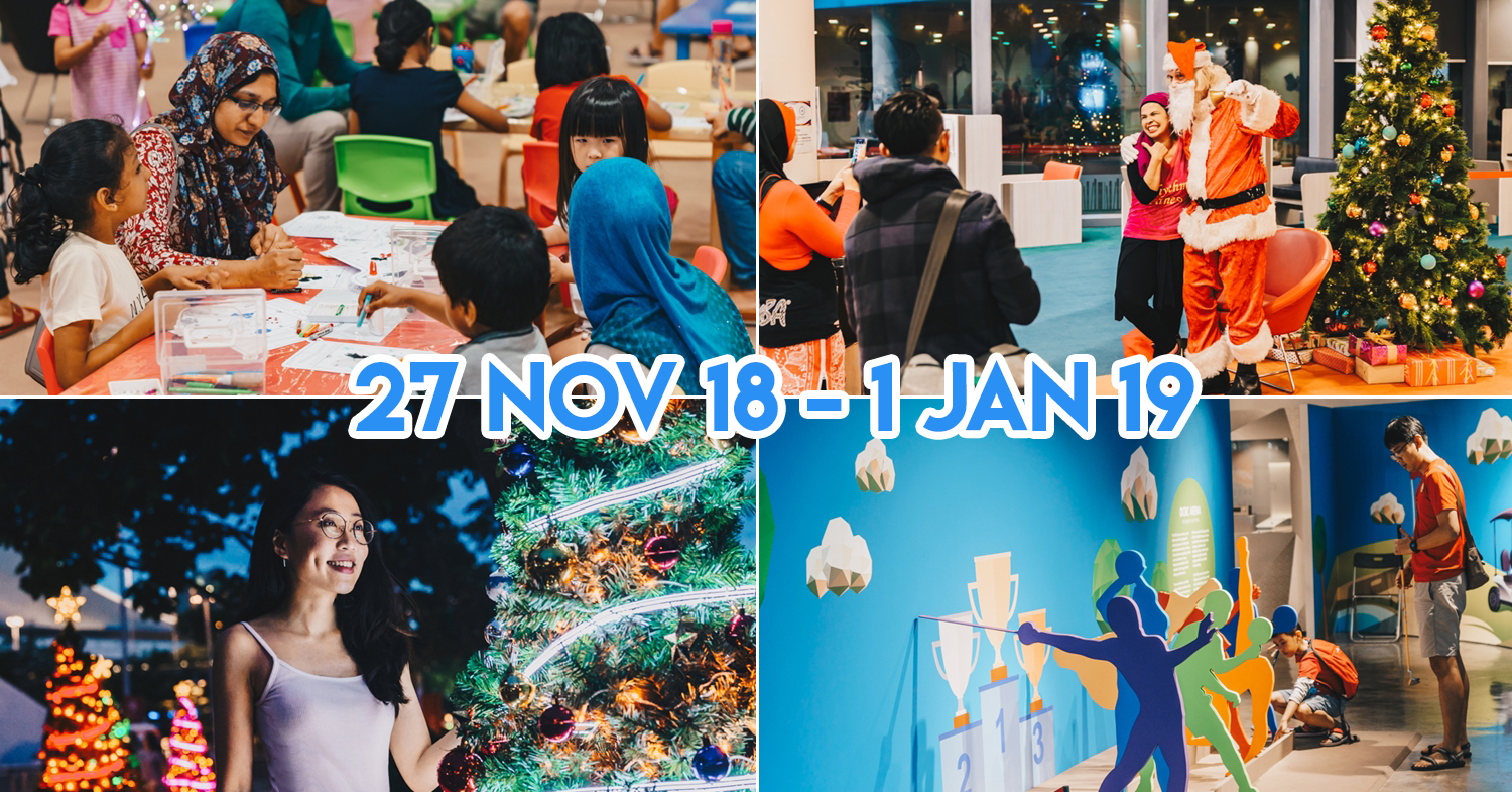Singapore Sports Hub Celebrates Christmas With Neon Christmas Trees, Mini Golf and Santa Meet & Greets