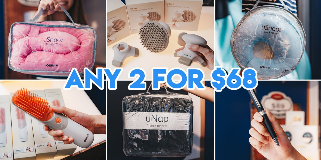 OSIM Products Like Cuddle Blankets And Head Massagers Are Now Under $99 Till 31 Dec 2018