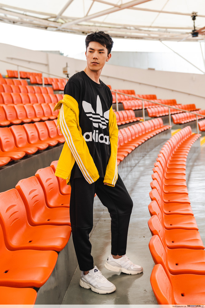 d37827580747 You can t go wrong with this classic adidas Oversize Trefoil Tee - a  definite wardrobe essential. Pair that with the adidas Z.N.E Tapered Pants  for an easy