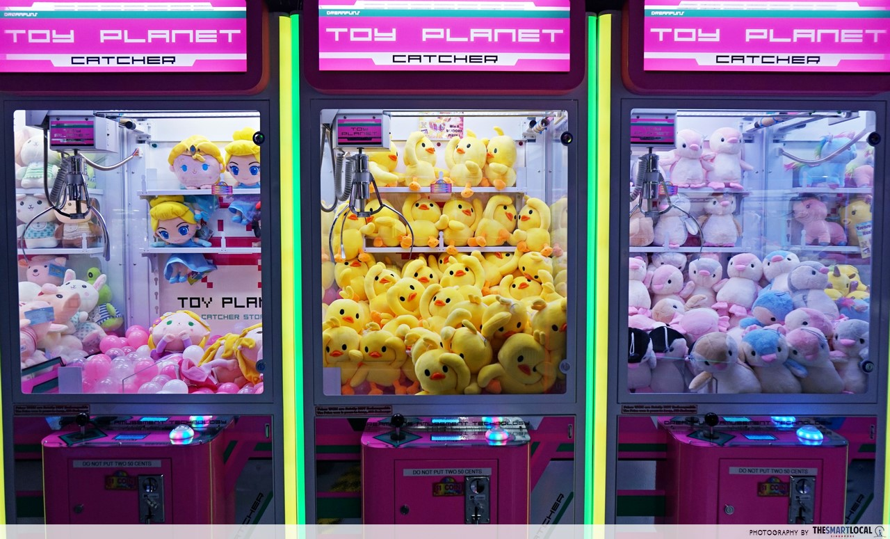 15 Arcades In Singapore With Claw Machines To Train Your Plushie-Catching Skills At