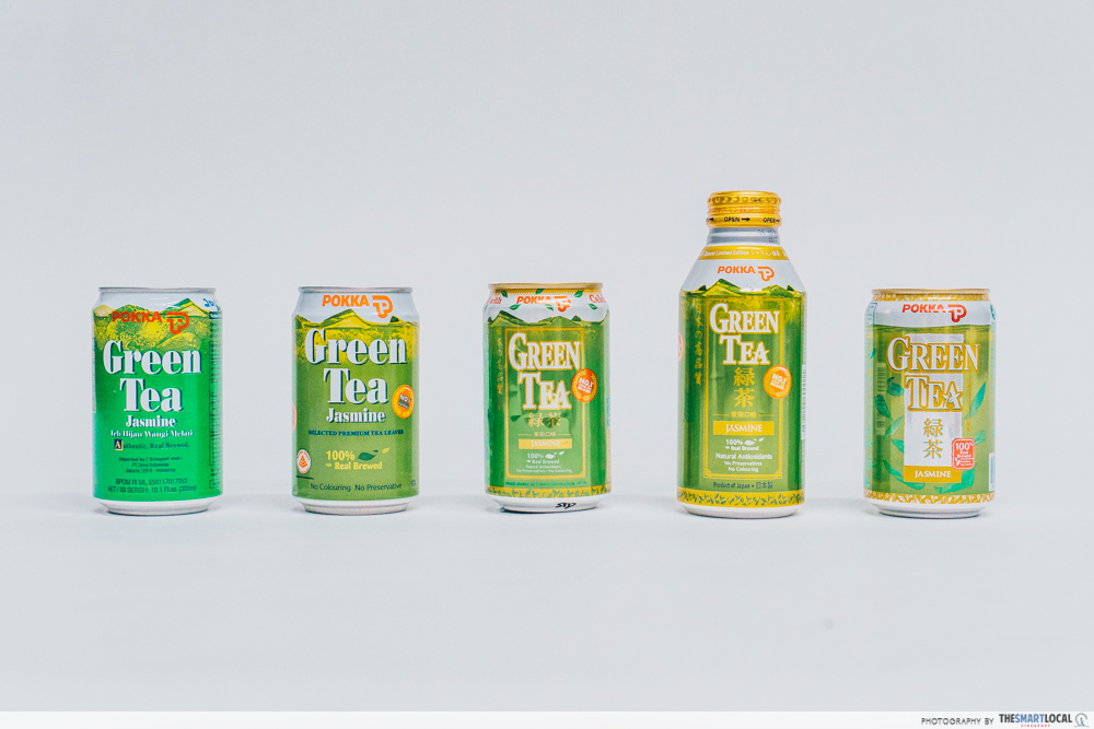 pokka green tea over the years