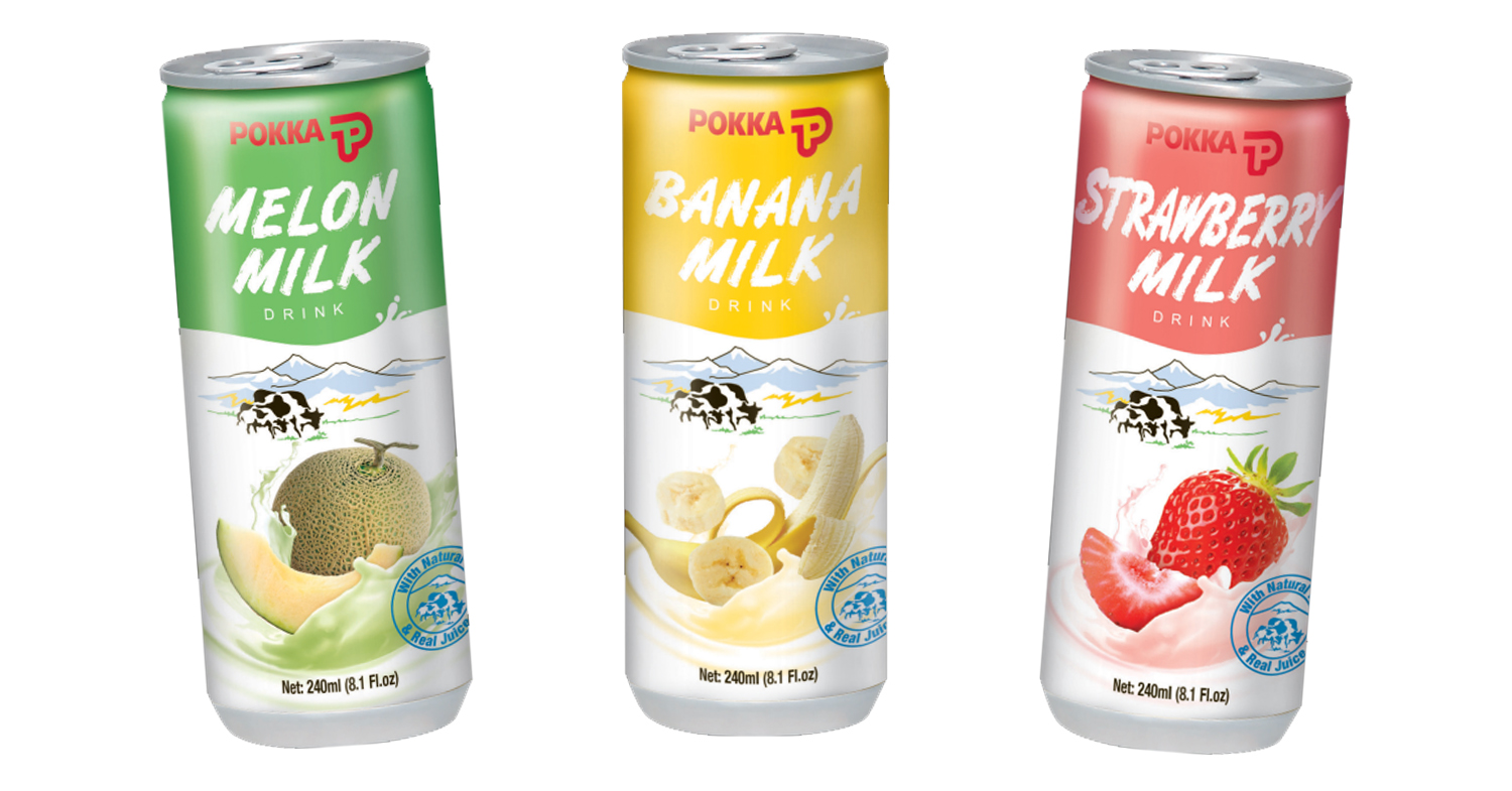 POKKA fruit milk drinks
