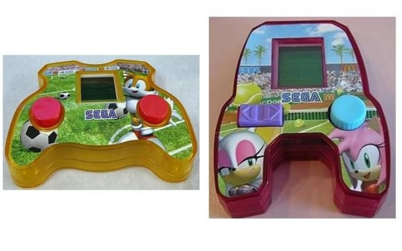 happy meal toy sonic hedgehog mcdonalds 2004 game console amy rouge