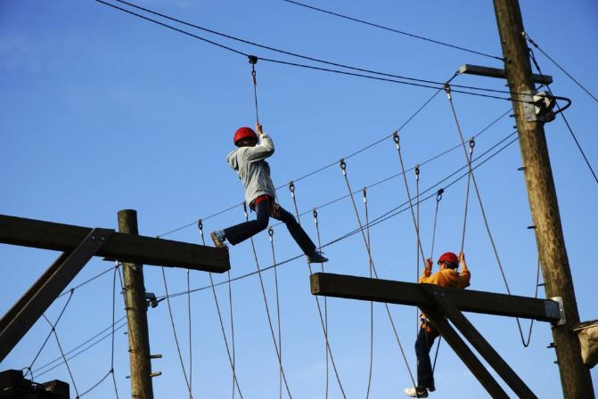 avillion admiral cove port dickson resort high ropes elements obstacle course