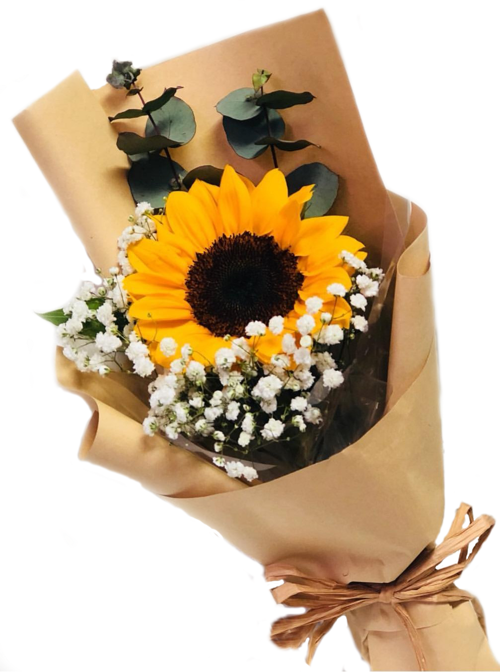 Valentine's Day bouquets under $50 - Sunflower and baby's breath