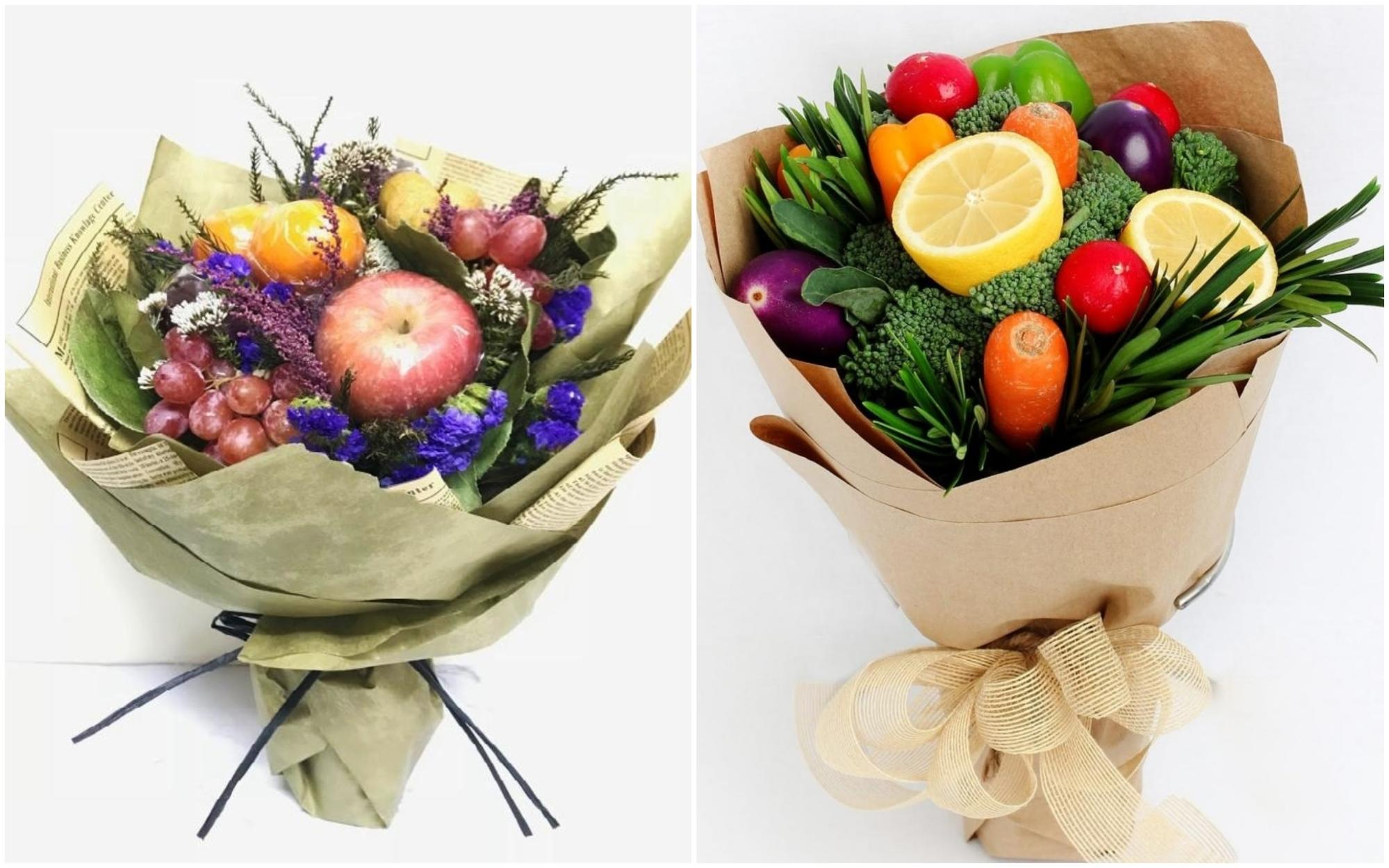 Edible bouquets for Valentine's Day 2019 - Fruits and Vegetables